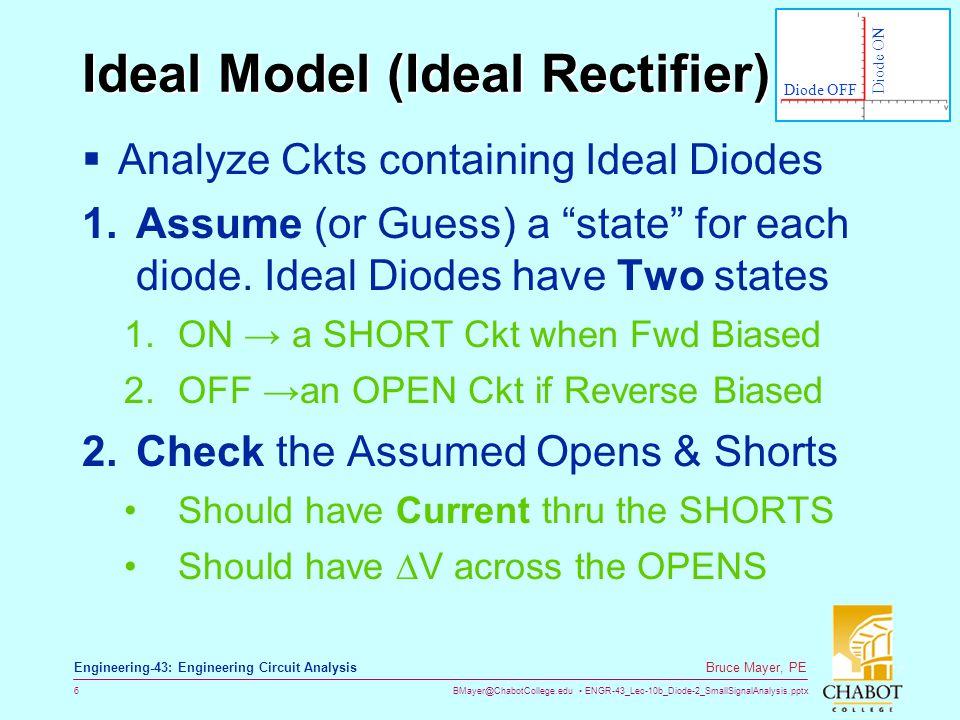 BMayer@ChabotCollege.edu ENGR-43_Lec-10b_Diode-2_SmallSignalAnalysis.pptx 47 Bruce Mayer, PE Engineering-43: Engineering Circuit Analysis Effect of Q-Pt Location  From Analysis