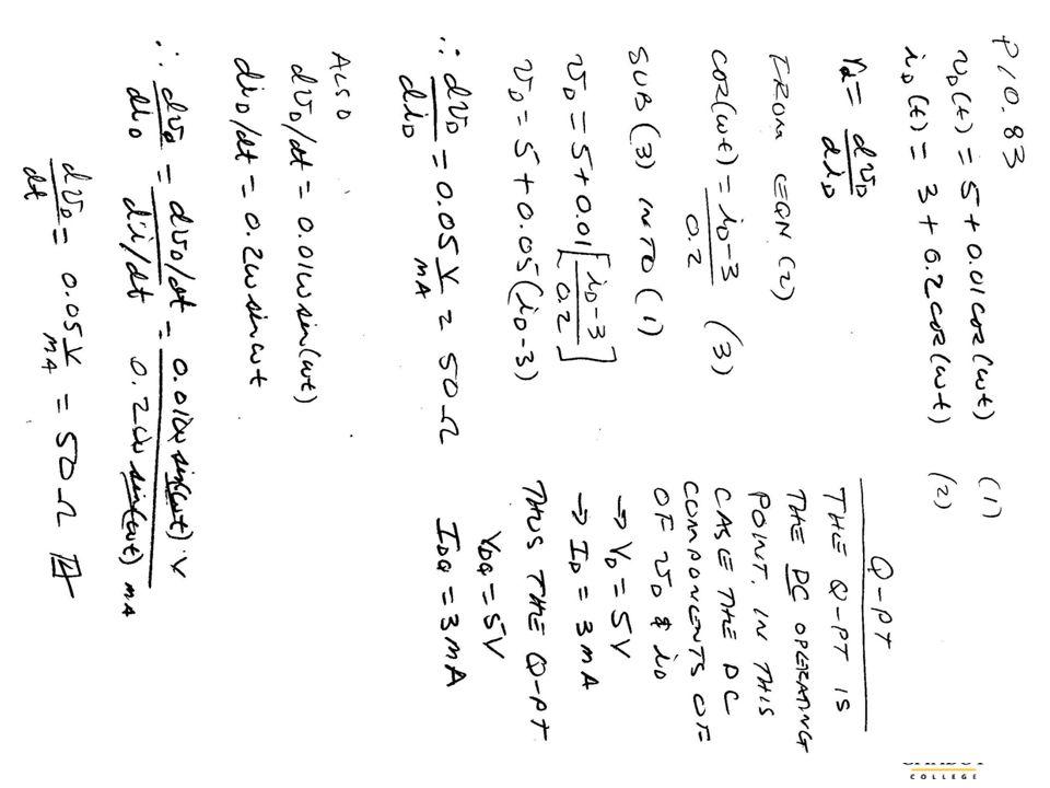 BMayer@ChabotCollege.edu ENGR-43_Lec-10b_Diode-2_SmallSignalAnalysis.pptx 62 Bruce Mayer, PE Engineering-43: Engineering Circuit Analysis