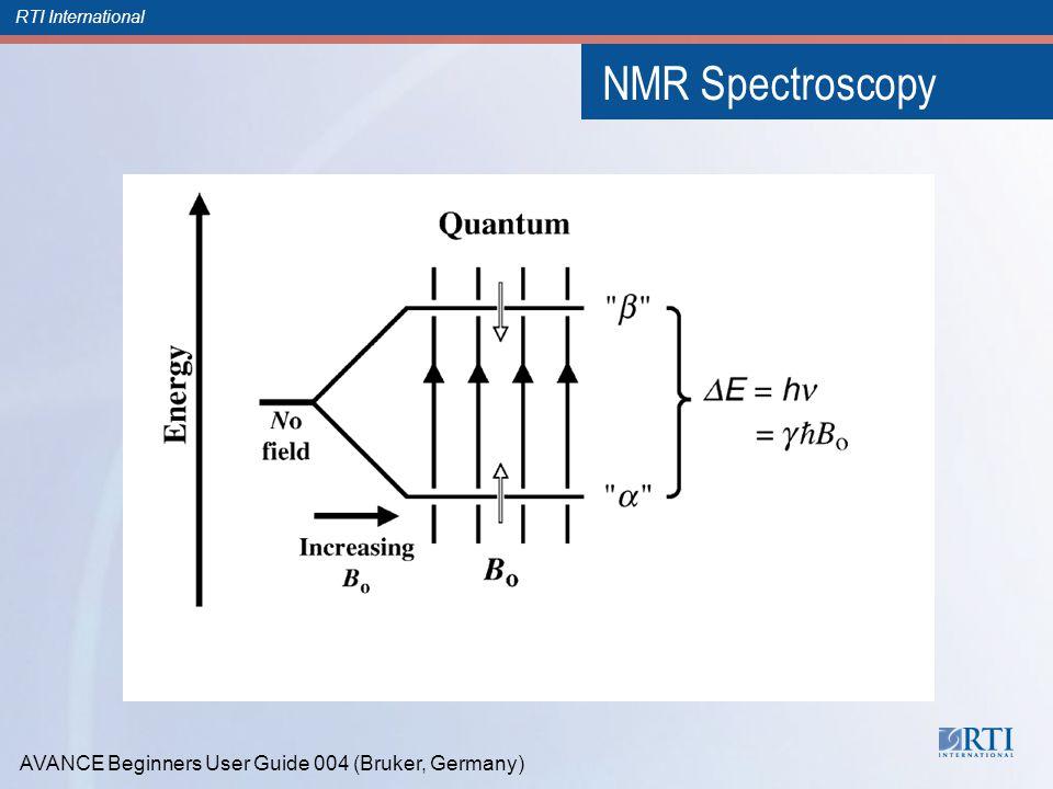 RTI International NMR Spectroscopy AVANCE Beginners User Guide 004 (Bruker, Germany)