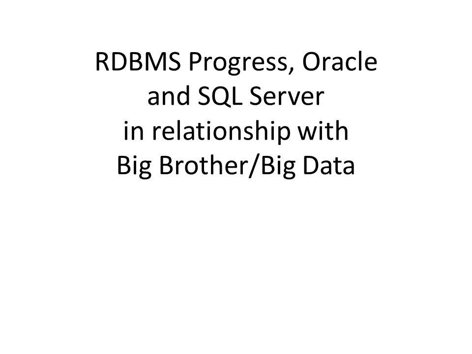 Progress = _DbStatus-LastTran (Last Transaction Number) or promon 7 PUG Challenge Americas 201432 SQL Server = LCN (Log Change Number) Oracle = SCN (System Change Number)