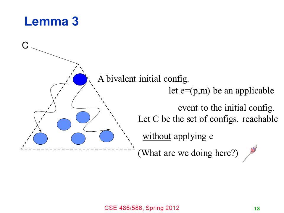 CSE 486/586, Spring 2012 A bivalent initial config.