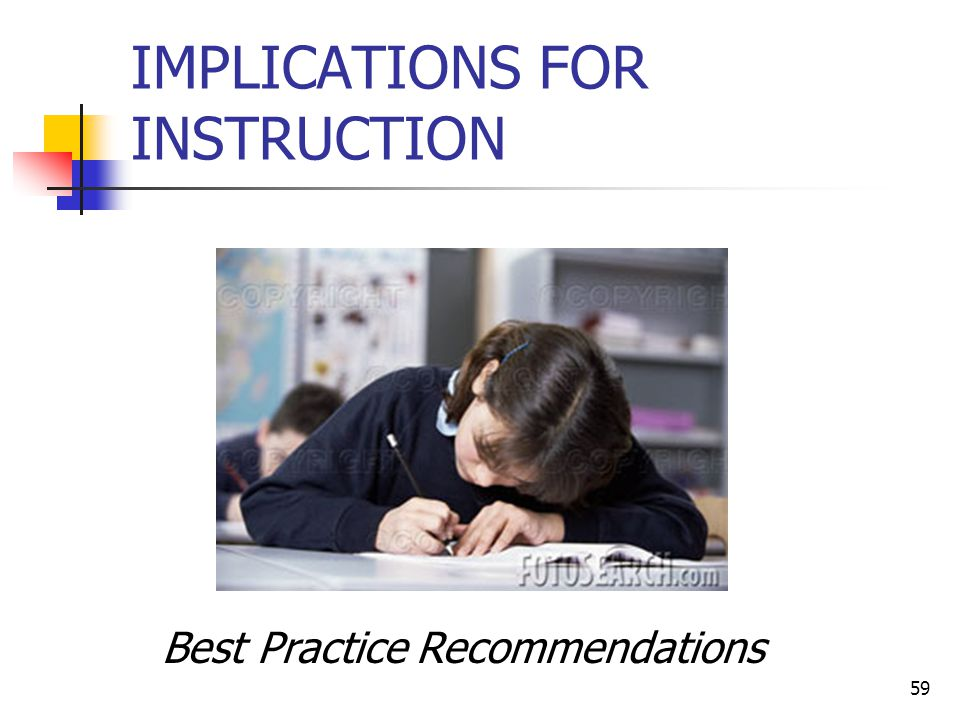 58 STRATEGIES & IMPLICATIONS FOR INSTRUCTION I
