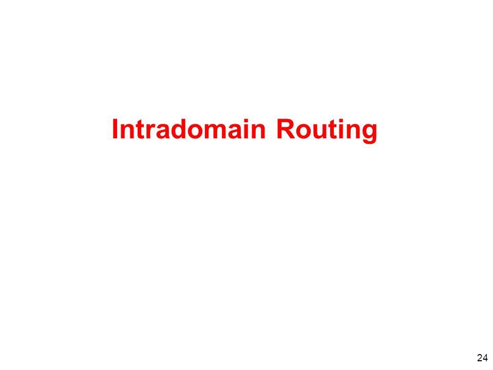 Intradomain Routing 24