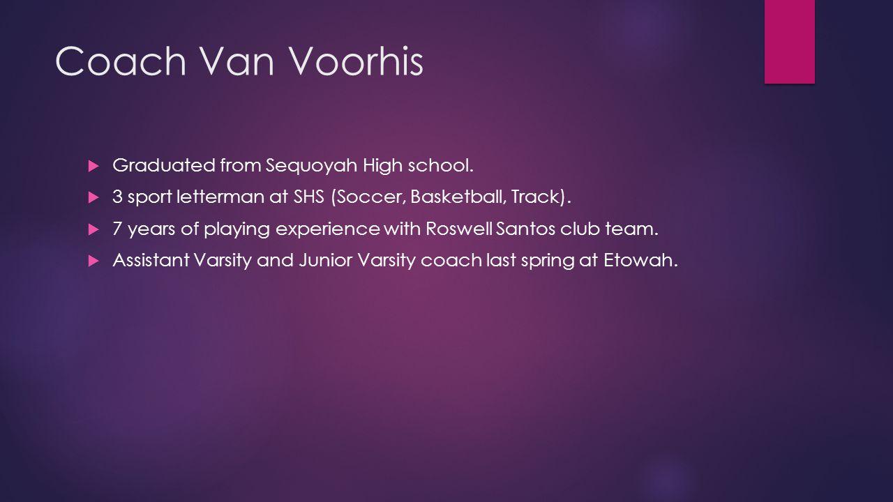 Coach Van Voorhis  Graduated from Sequoyah High school.