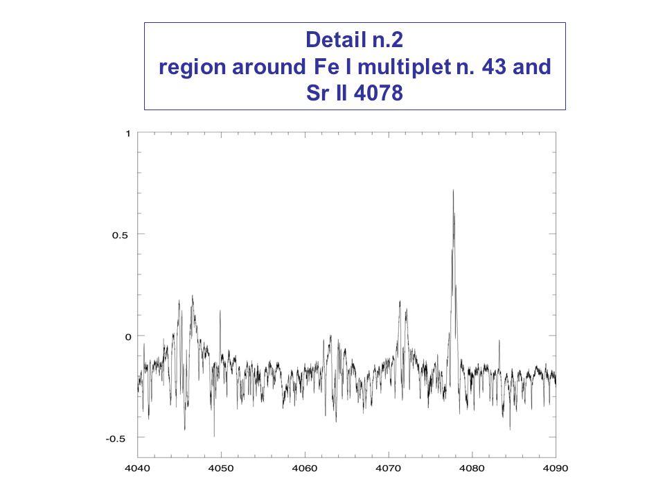 Detail n.2 region around Fe I multiplet n. 43 and Sr II 4078