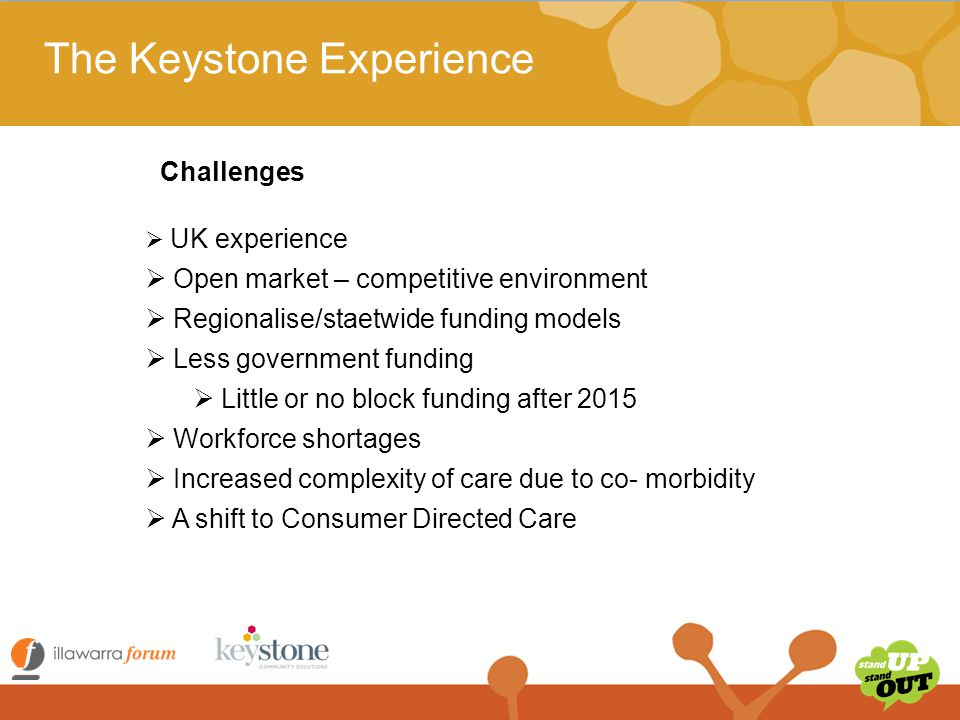 The Keystone Experience  How would we survive without block funding.