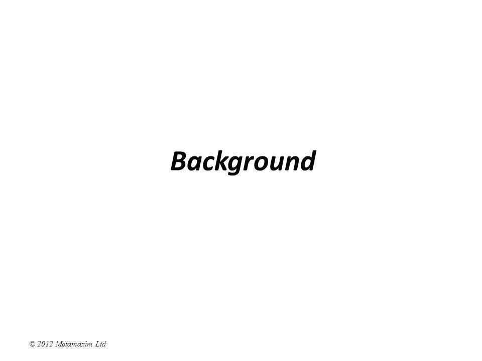 © 2012 Metamaxim Ltd Protocol Modelling Freeze Active Closed Account Machine 1 Un- frozen Account Machine 2 Frozen In Credit State Function: if (balance < 0) return Overdrawn ; else return In Credit ; Account Machine 3 Over- drawn balance := balance + Deposit.amount; balance := balance - Withdraw.amount; balance := 0; Release Close balance = -20 Close Deposit Withdraw Open Withdraw Release Freeze Release Close balance = -20 Close Deposit Withdraw Open Withdraw Release Freeze