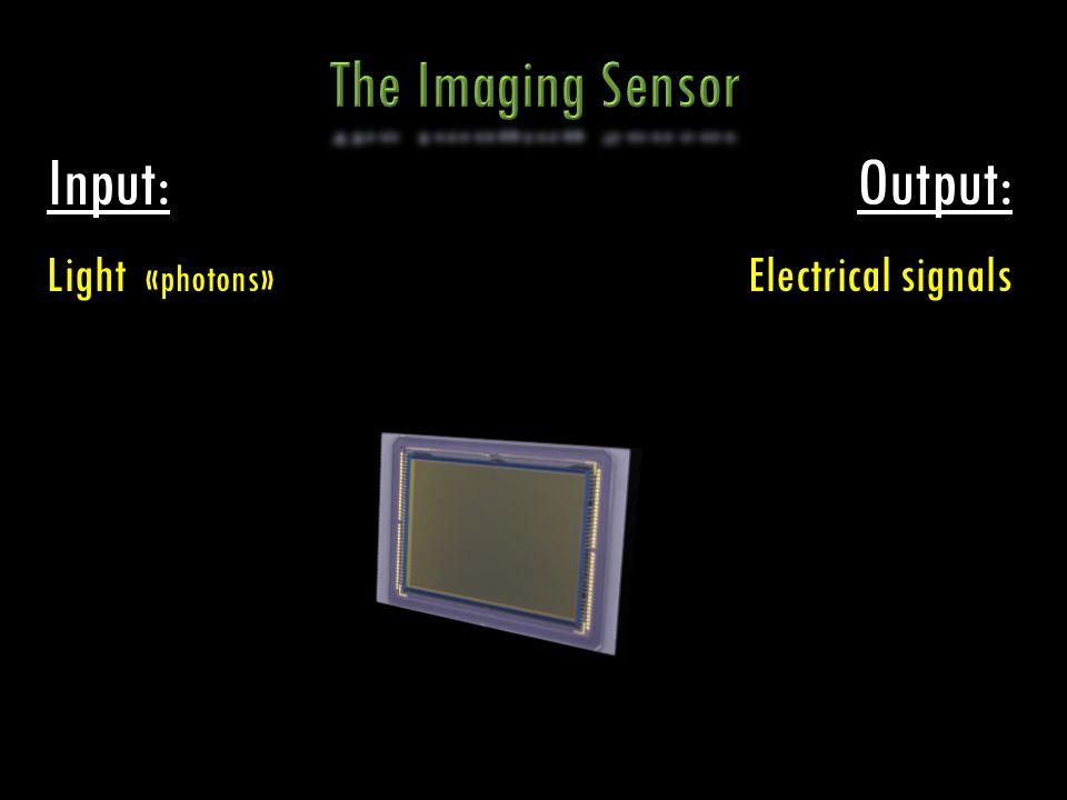 Input: Light «photons» Output: Electrical signals