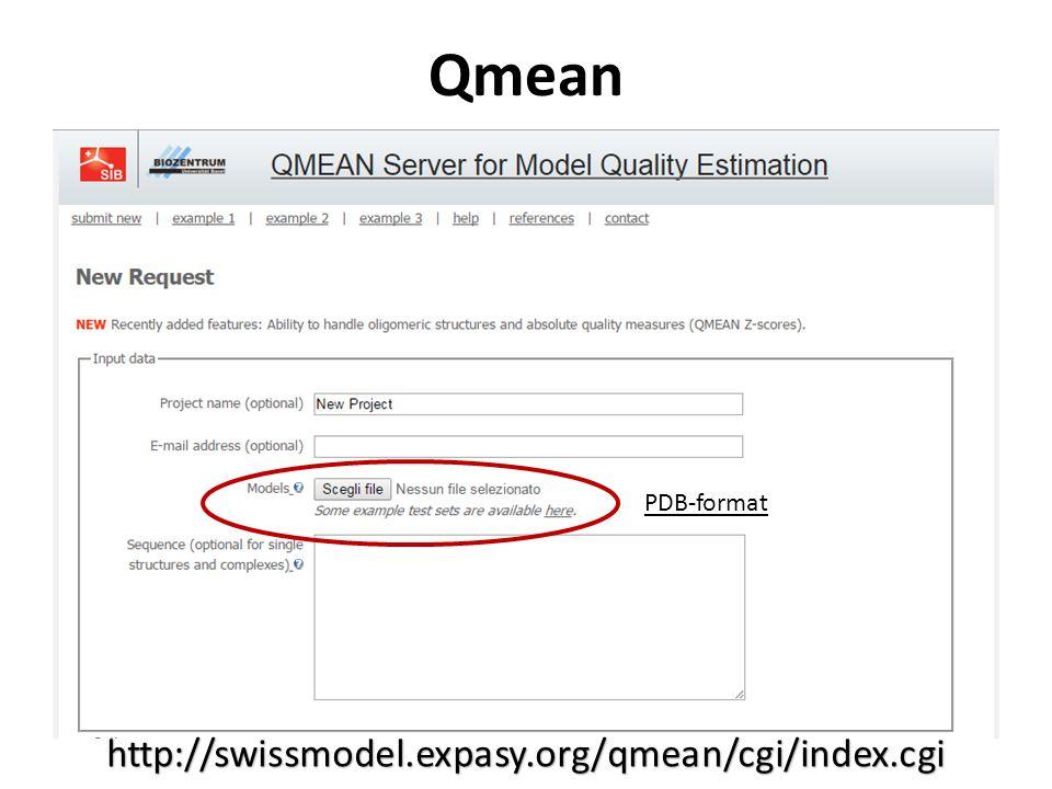 Qmean http://swissmodel.expasy.org/qmean/cgi/index.cgi PDB-format