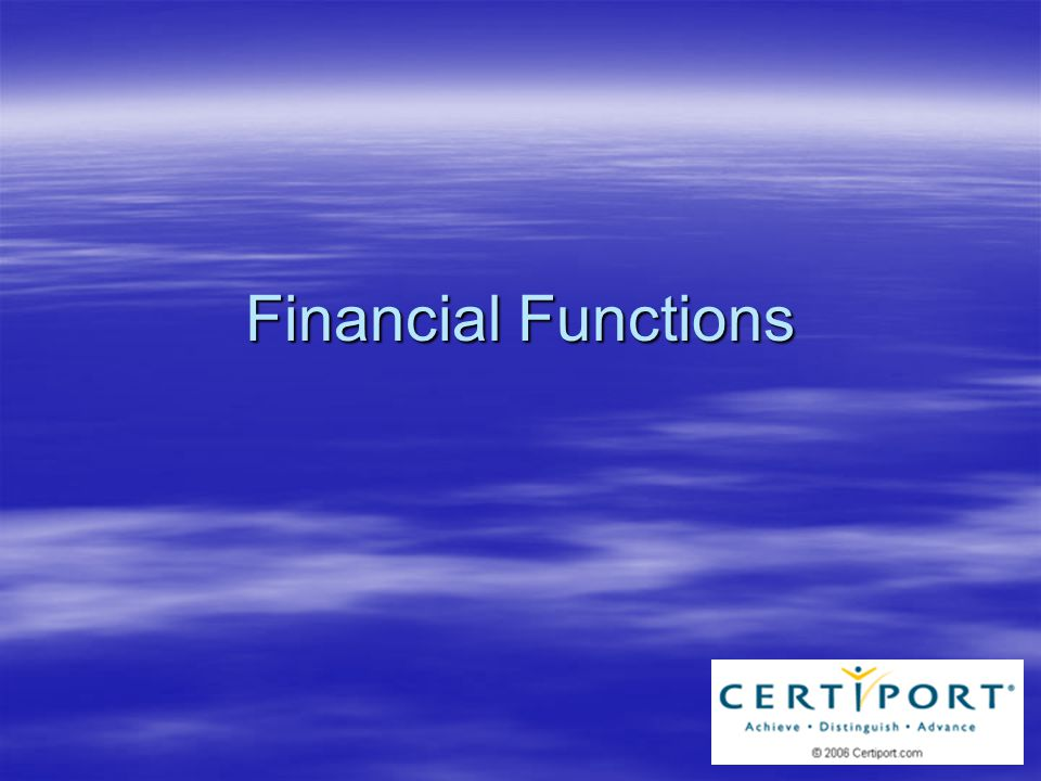 Overview  Power of Excel = Calculations –Loan Calculations –Expense Calculations –Consolidate Values –Search for Values