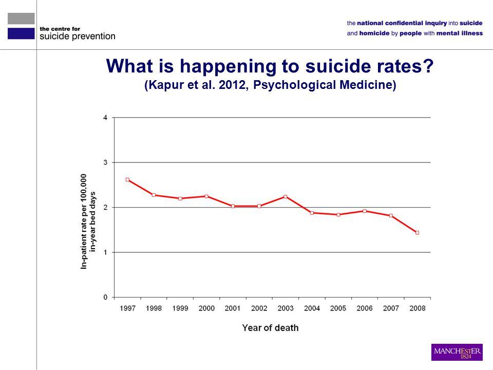 What is happening to suicide rates (Kapur et al. 2012, Psychological Medicine)