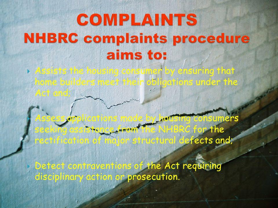  During construction  Minimum 4 inspections 1. Administrative non- compliances 2. Technical non- compliances
