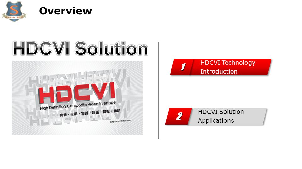 Overview HDCVI Solution Applications 22 HDCVI Technology Introduction 11