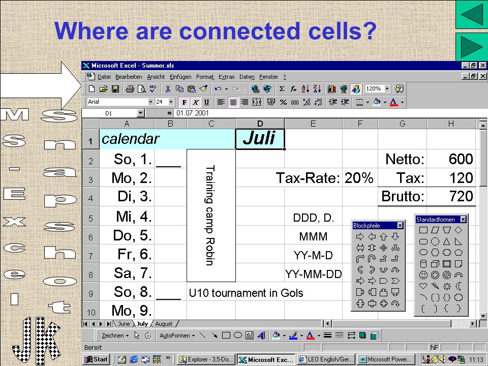 Where are connected cells