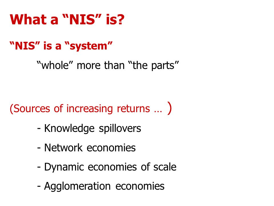 What a NIS is.