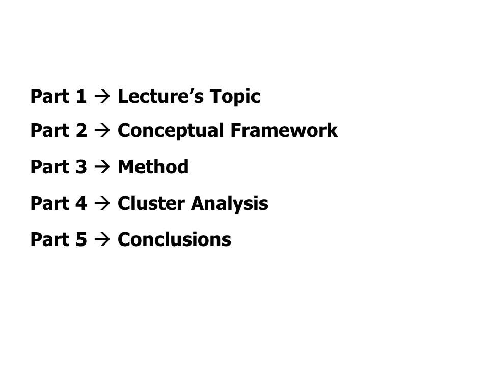 Part 1 / Lecture's Topic Is it possible to measure the development and maturity of a NIS.
