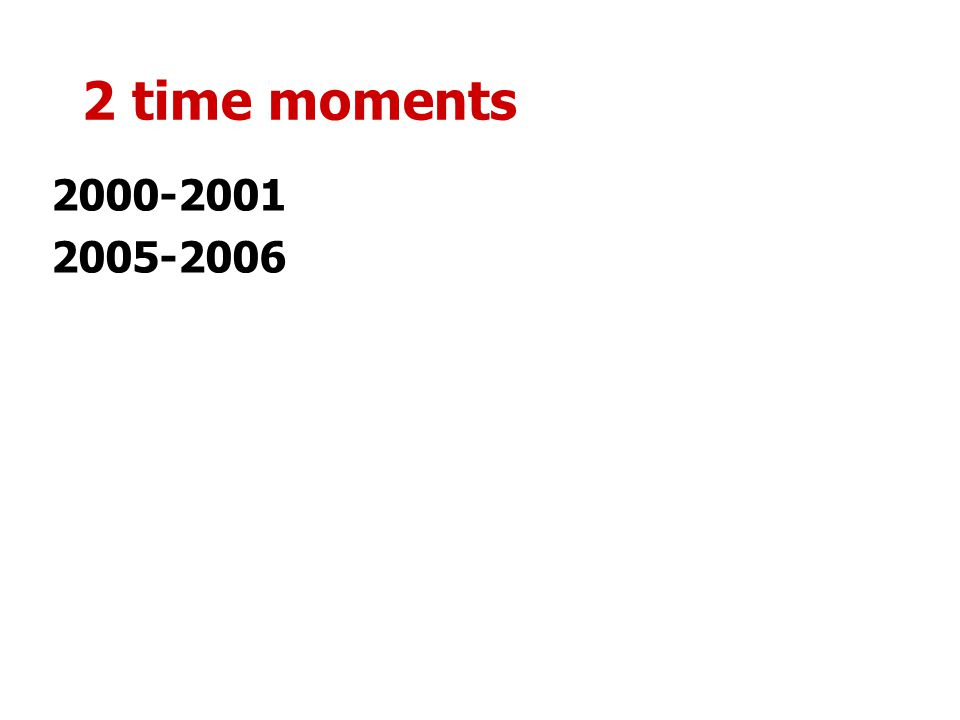 2 time moments 2000-2001 2005-2006