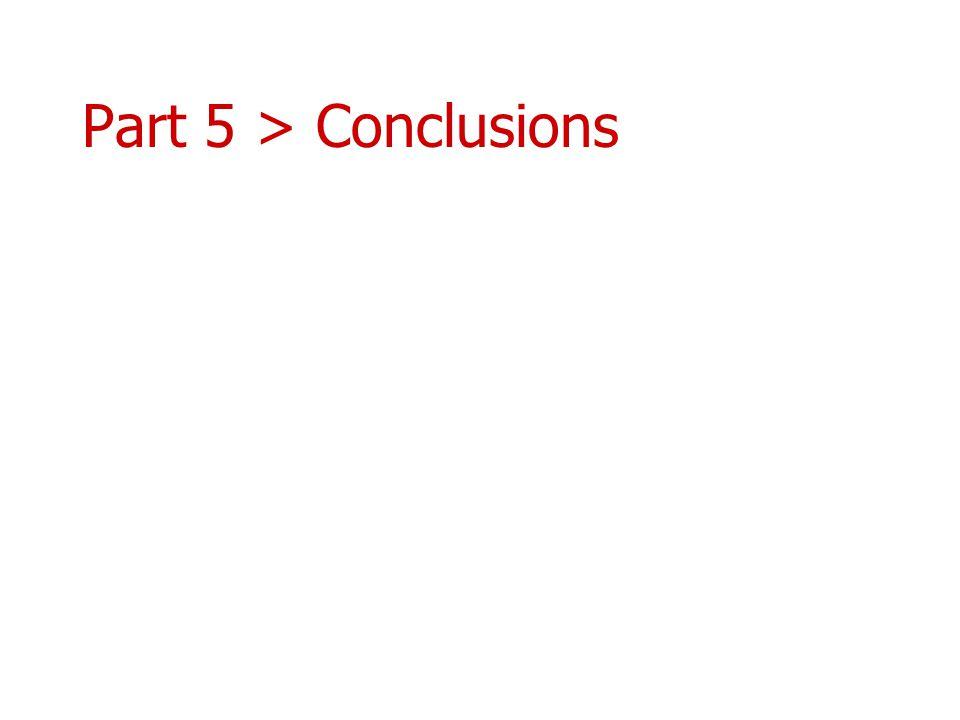 Part 5 > Conclusions