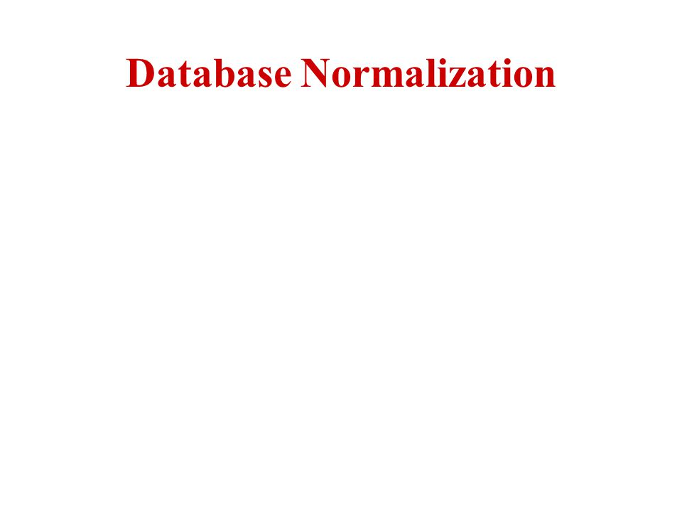 Normalization Normalization theory is based on the observation that relations with certain properties are more effective in inserting, updating and deleting data than other sets of relations containing the same data Normalization is a multi-step process beginning with an unnormalized relation