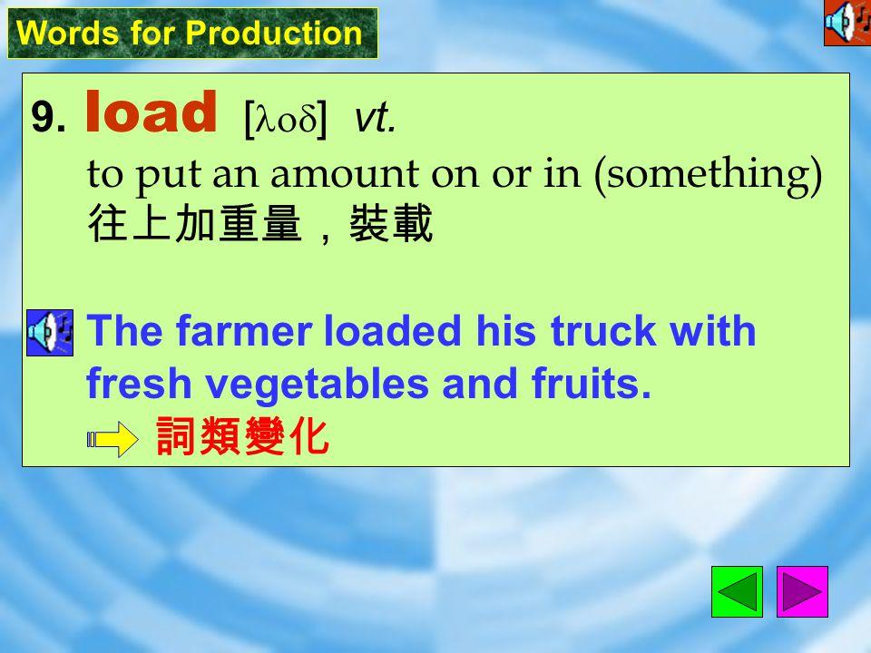 Words for Production 8. line [ laIn ] vt.