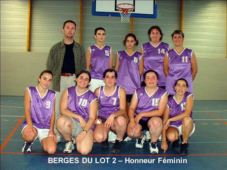 BERGES DU LOT 2 – Honneur Féminin