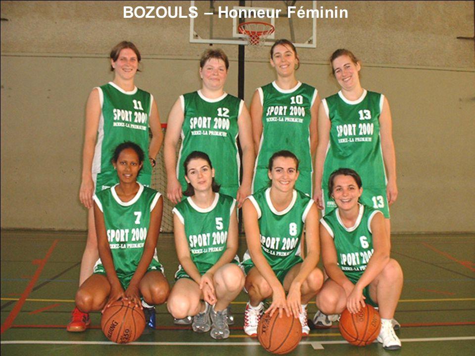 BOZOULS – Honneur Féminin