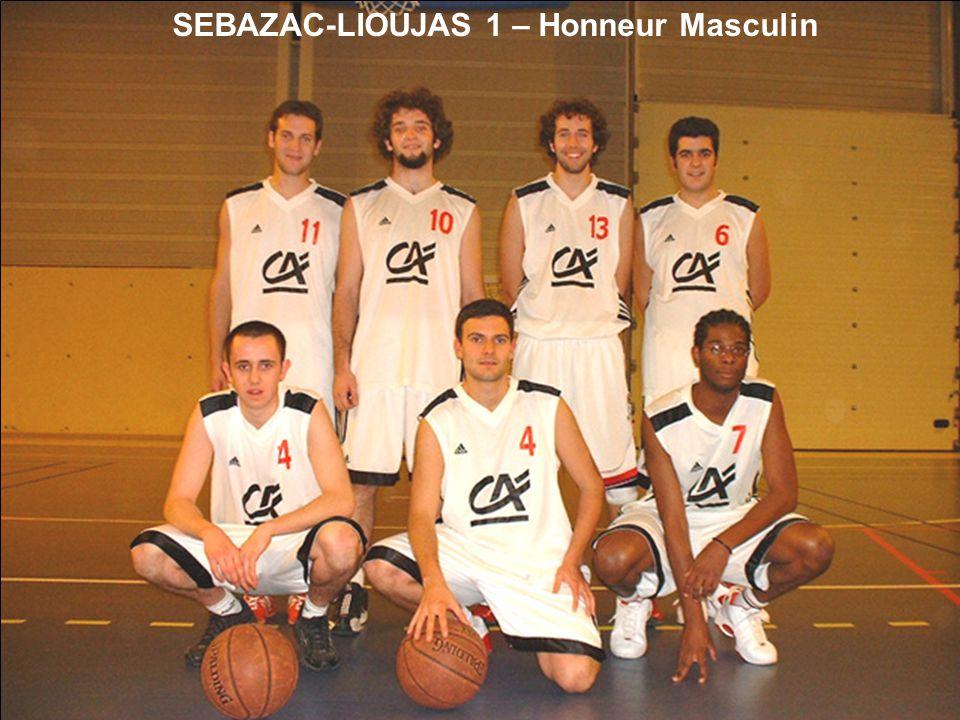 SEBAZAC-LIOUJAS 1 – Honneur Masculin