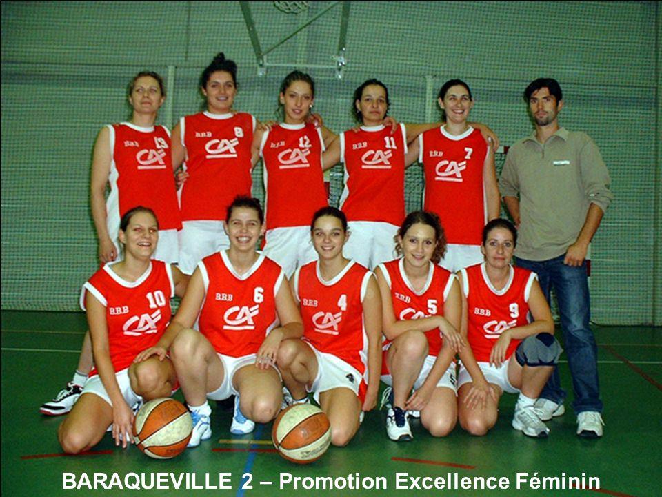 BARAQUEVILLE 2 – Promotion Excellence Féminin