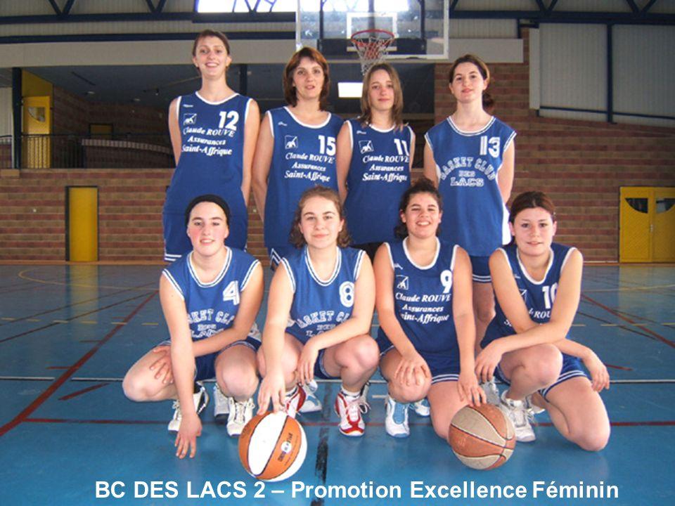 BC DES LACS 2 – Promotion Excellence Féminin