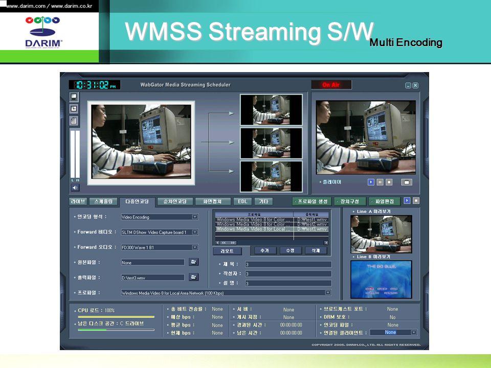 WMSS Streaming S/W Multi Encoding