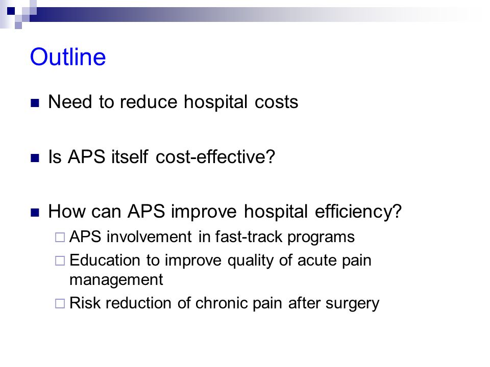 Fast track (ERAS) programs: LOS ↓ LOS after colorectal surgery associated with ERAS program Spanjersberg et al.