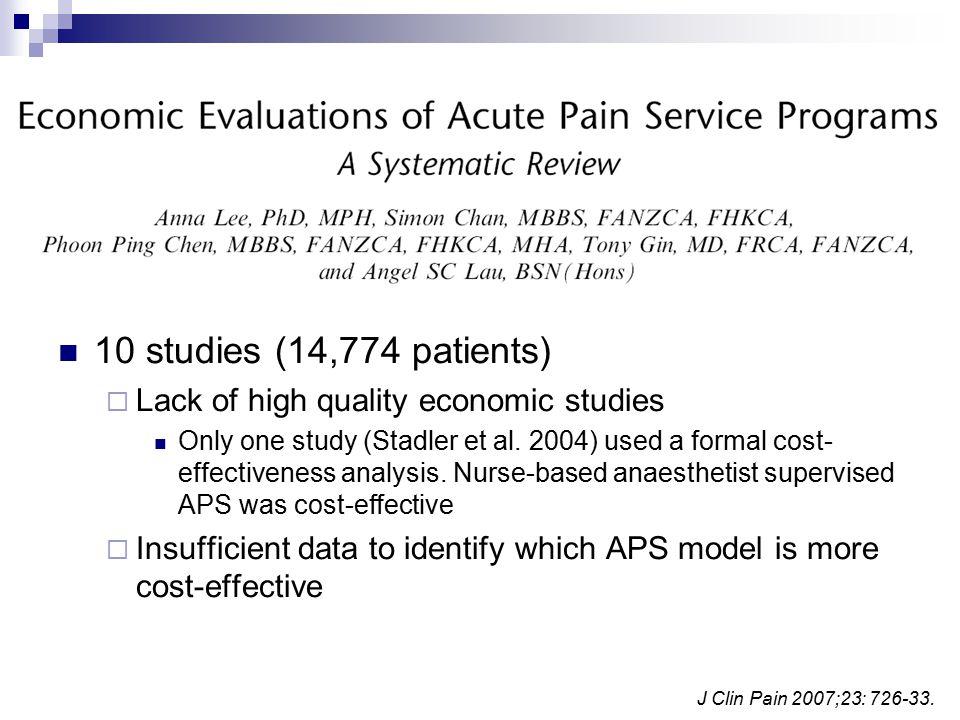 J Clin Pain 2007;23: 726-33.