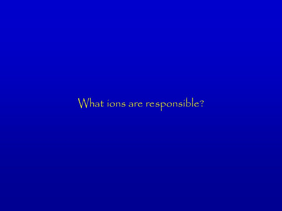 What ions are responsible