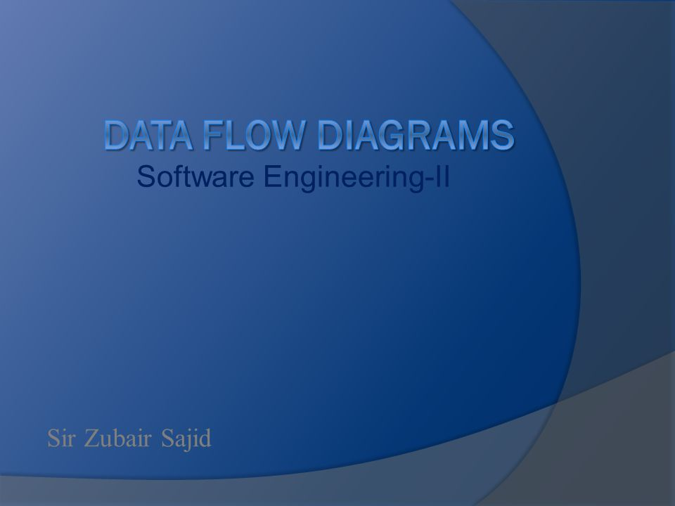 Software Engineering-II Sir Zubair Sajid