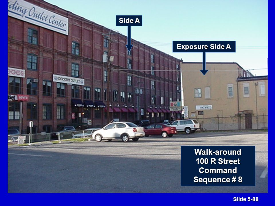 Slide 5-169 Side C Large Exercise 3 900 16th Street Conditions upon arrival: Friday 2 p.m.