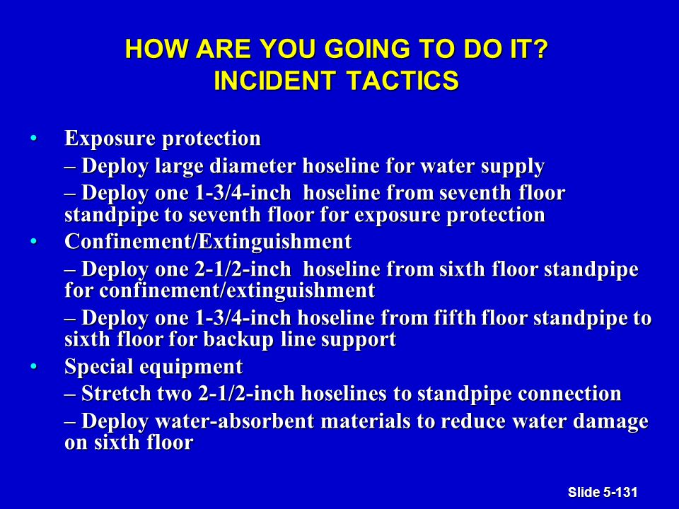 Slide 5-131 HOW ARE YOU GOING TO DO IT.