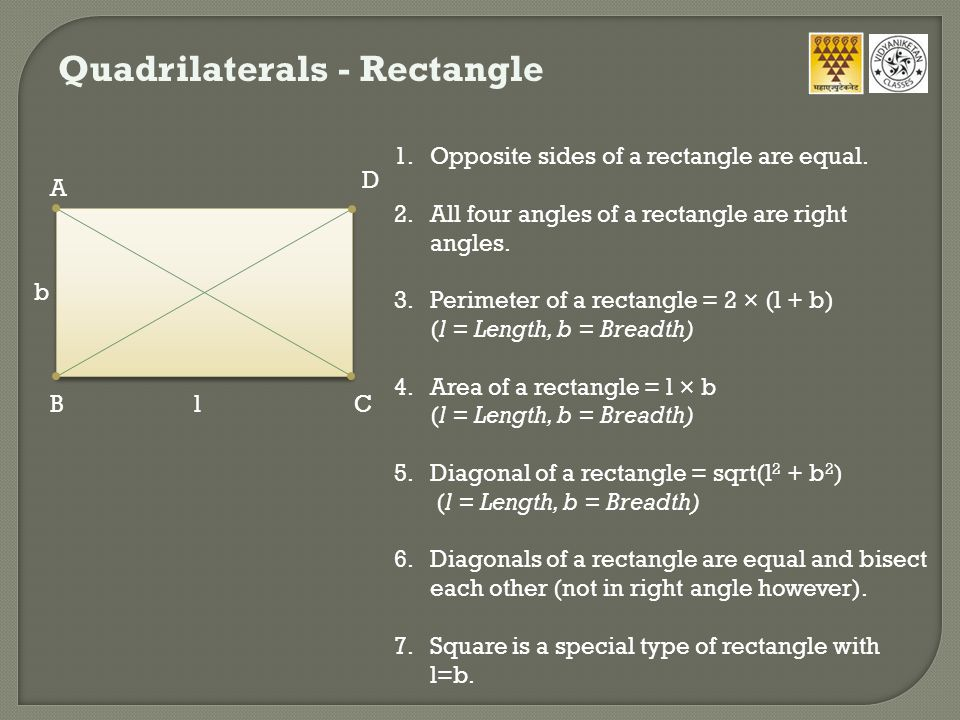 Quadrilaterals - Rhombus 1.All sides of a rhombus are equal.