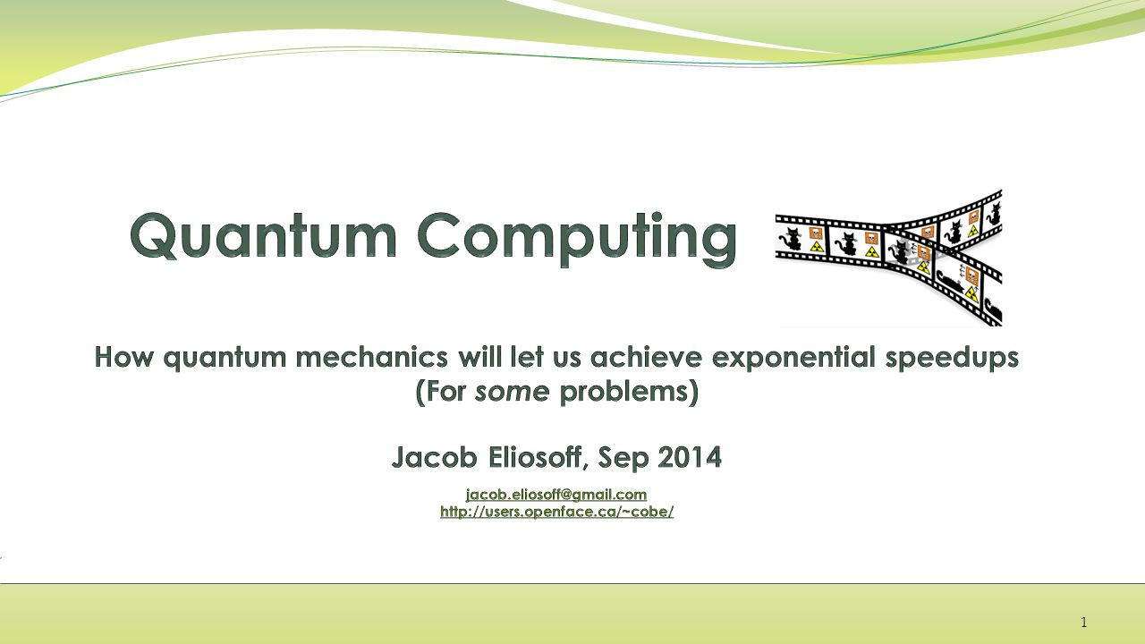 Why does quantum computing matter.