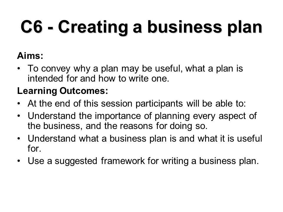 Why plan.