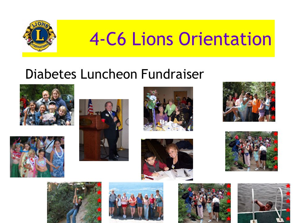 4-C6 Lions Orientation Diabetes Luncheon Fundraiser