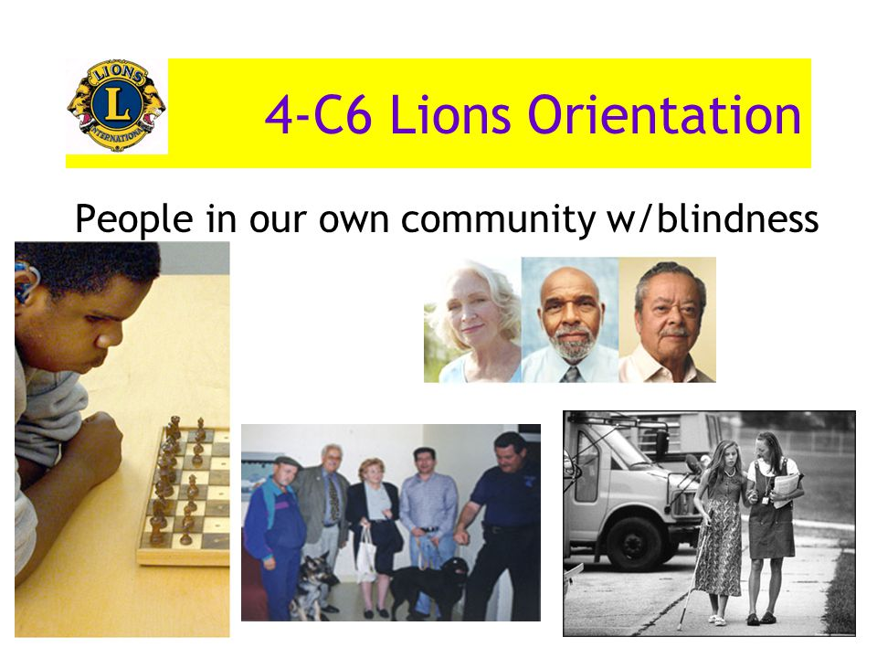 People in our own community w/blindness