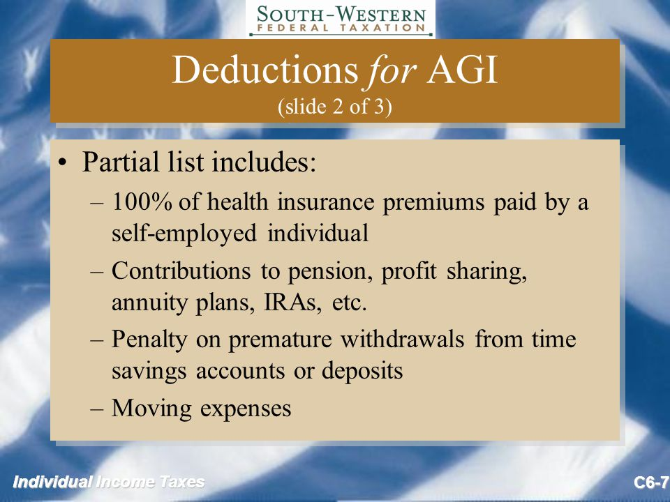Individual Income Taxes C6-38 Rental Vacation Homes (slide 6 of 9) Example of personal use Rental days: 100 (10% = 10) Personal UseNot SignificantSignificant 7 days X 14 days X 18 days X Example of personal use Rental days: 100 (10% = 10) Personal UseNot SignificantSignificant 7 days X 14 days X 18 days X
