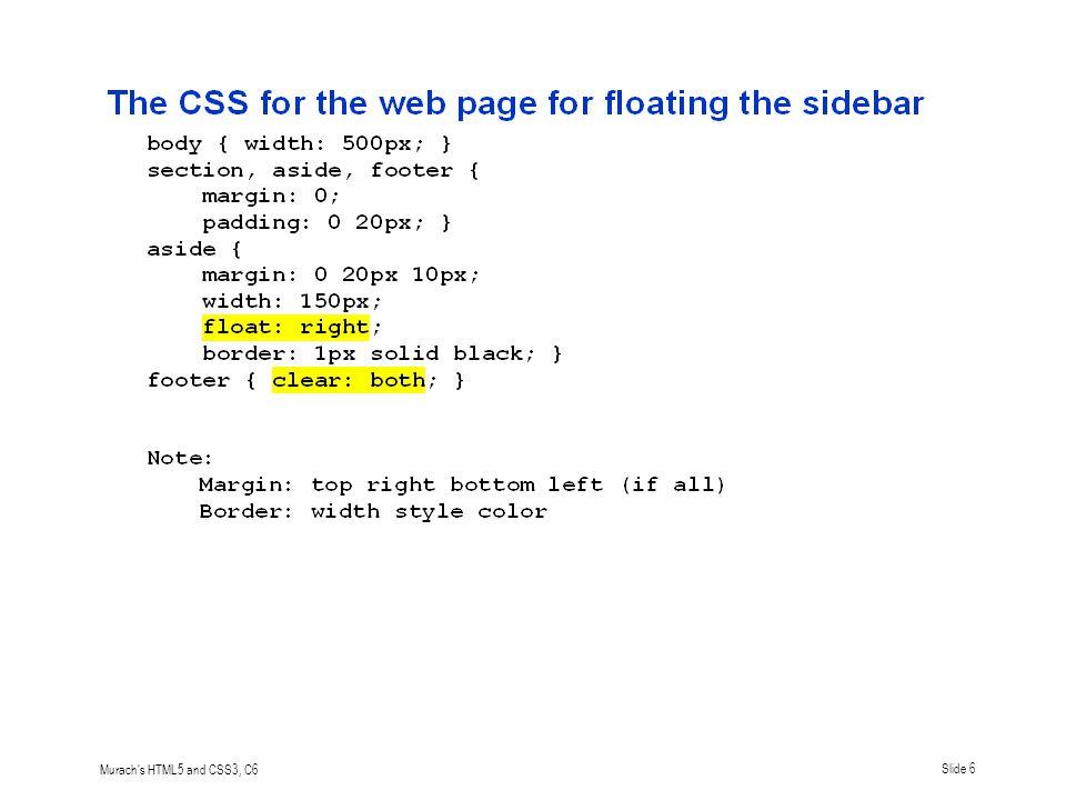 Murach s HTML5 and CSS3, C6Slide 7