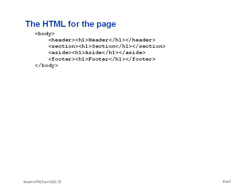 Murach s HTML5 and CSS3, C6Slide 10
