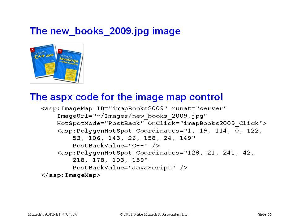 Murach's ASP.NET 4/C#, C6© 2011, Mike Murach & Associates, Inc.Slide 55