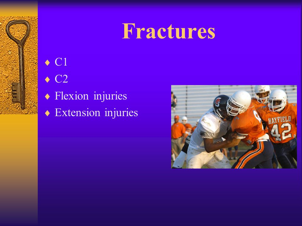 Fractures  C1  C2  Flexion injuries  Extension injuries