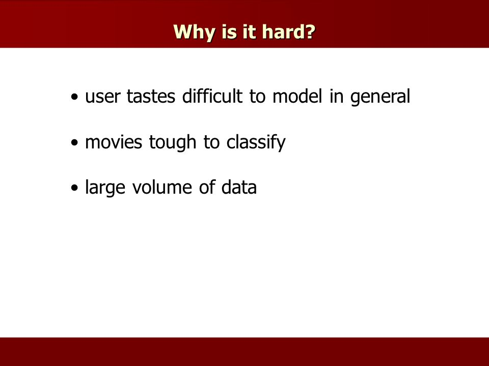 Why is it hard.