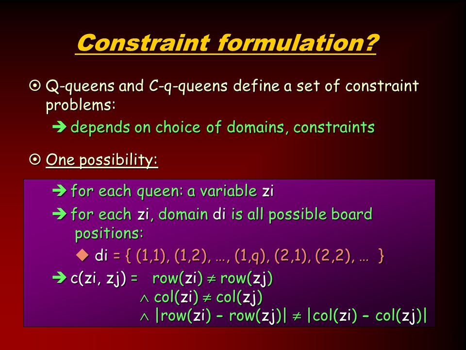 12 Constraint formulation.