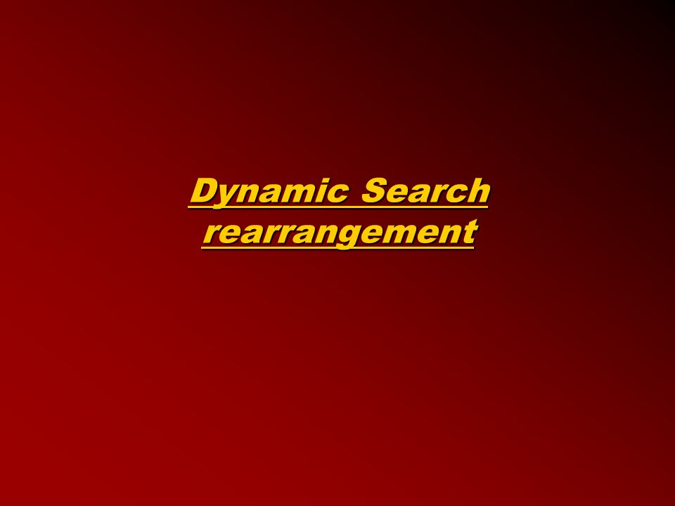 Dynamic Search rearrangement