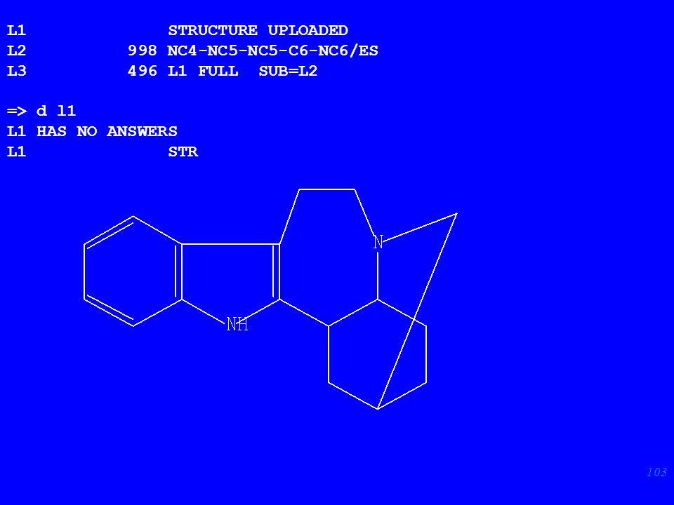 103 L1 STRUCTURE UPLOADED L2 998 NC4-NC5-NC5-C6-NC6/ES L3 496 L1 FULL SUB=L2 => d l1 L1 HAS NO ANSWERS L1 STR